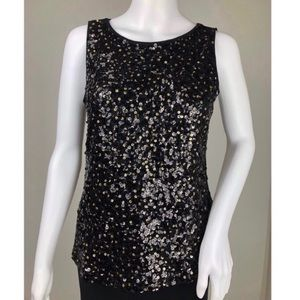Ann Taylor LOFT Sequined Sleeveless Top Size SP
